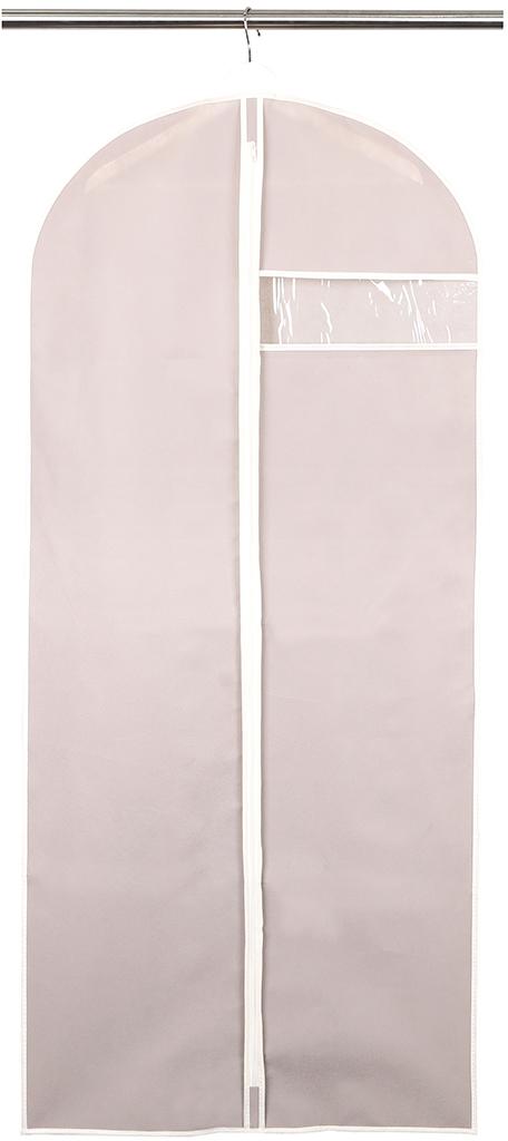 Чехол для одежды Handy Home, с окошком, цвет: бежевый, 60 x 135 см чехол для одежды handy home лен цвет бежевый 60 х 135 см