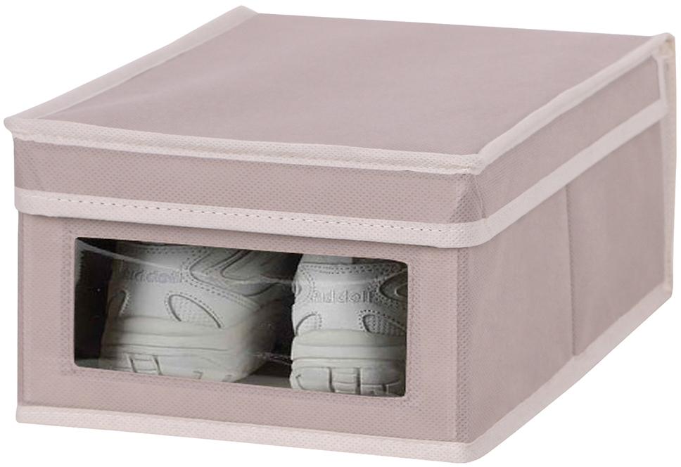 Короб для обуви Handy Home M, цвет: бежевый, 25 x 35 x 16 см короб для xранения обуви miolla 52 x 30 x 11 см