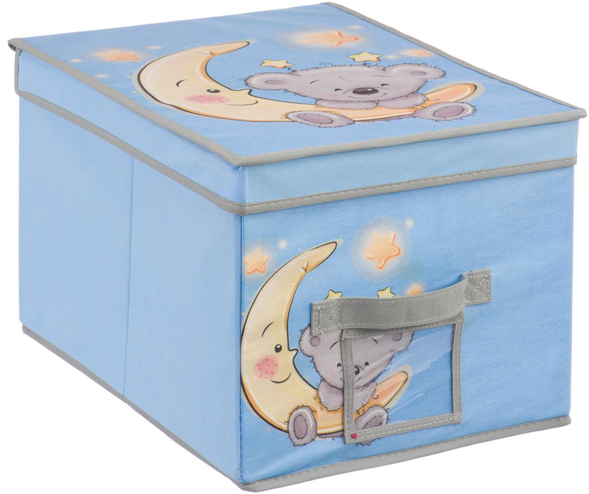 Короб для хранения Handy Home Мишка, цвет: голубой, 30 х 40 х 25 смUC-102Короб прямоугольный складной с крышкой. Занимает минимум места в сложенном виде. Естественная вентиляция: материал позволяет воздуху свободно проникать внутрь, не пропуская пыль. Подходит для хранения одежды, обуви, мелких предметов, игрушек и многого другого. Соберите всю коллекцию и наслаждайтесь аккуратностью и эстетикой своего гардероба. Рекомендуем!