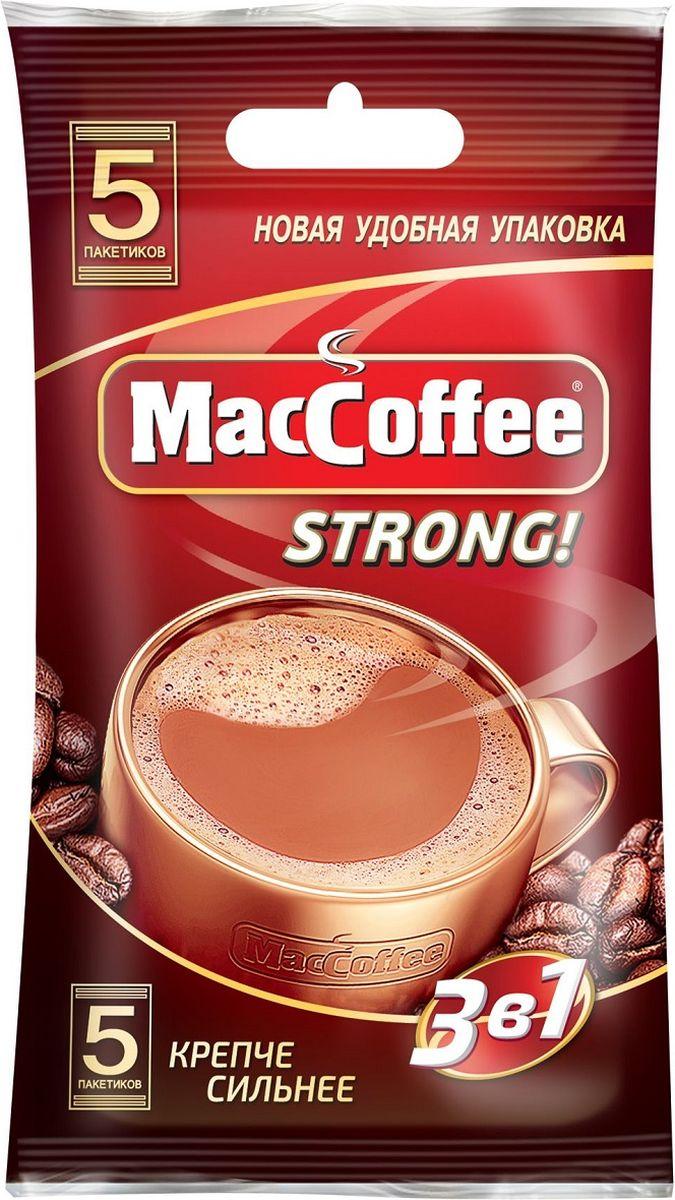 Фото - МасСoffee 3 в 1 Strong кофейный напиток, 5 шт массoffee 3 в 1 original кофейный напиток 5 шт