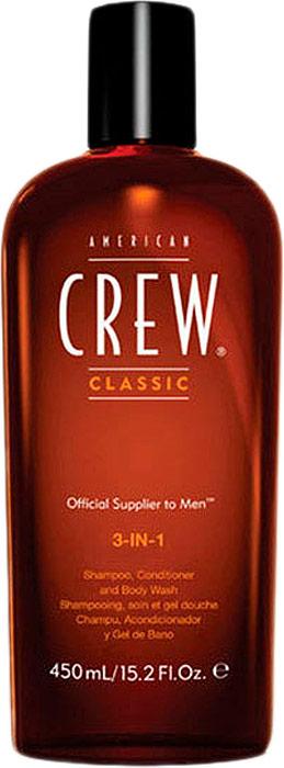 цена American Crew Средство 3 в 1 Шампунь, Кондиционер и Гель для душа Classic 3-in-1 Shampoo, Conditioner and Body Wash 450 мл в интернет-магазинах