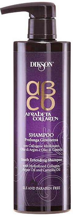Dikson ArgaBeta Collagen - Шампунь Продление молодости 500 мл (бессульфатный) восстанавливающий шампунь для волос с маслом арганы и коллагеном продление молодости argabeta collagen