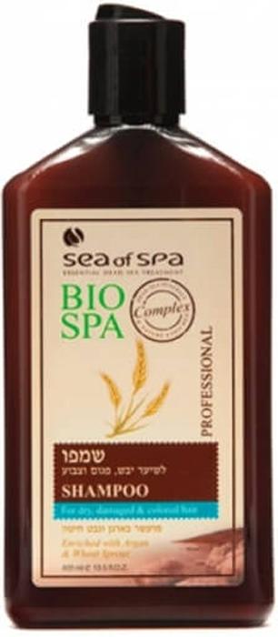 Sea of Spa Шампунь для окрашенных/поврежденных волос с маслом Аргании и ростками пшеницы, 400 мл sea of spa шампунь для окрашенных поврежденных волос с маслом аргании и ростками пшеницы 400 мл