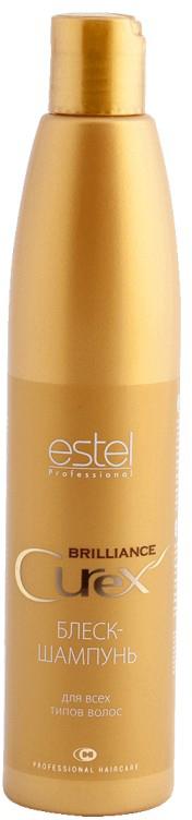 Estel Curex Brilliance Блеск-шампунь для волос 300 млCU300/S18Estel Curex Brilliance Блеск-шампунь для волос бережно очищает волосы, делает их эластичными и шелковистыми. Наполняет волосы зеркальным блеском и сиянием. Обладает кондиционирующим эффектом, обеспечивающим легкое расчесывание.