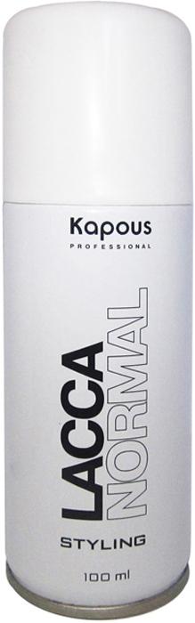 Kapous Professional Лак аэрозольный для волос нормальной фиксации 100 мл лак для волос нормальной фиксации set it