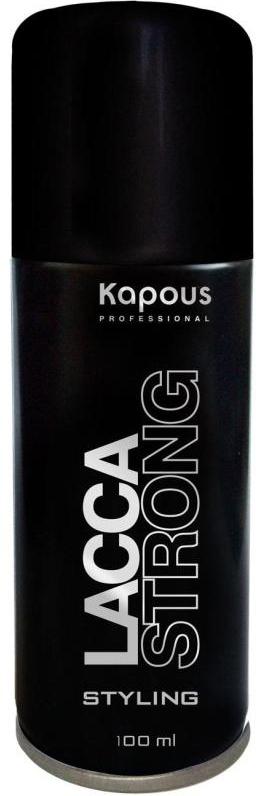 Kapous Professional Лак аэрозольный для волос сильной фиксации 100 мл kapous professional matt wax матовый воск для укладки волос сильной фиксации 100 мл