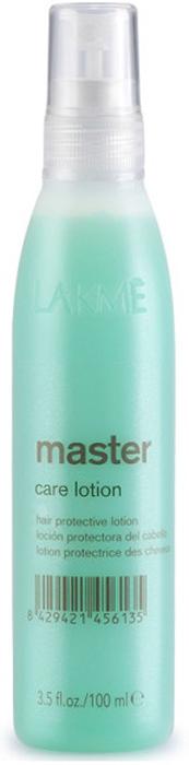Lakme Лосьон для ухода за волосами Care Lotion, 100 мл43032Лосьон для ухода за волосами Lakme Master Care Lotion - регенерирующий лосьон для пористых волос, требующих кондиционирования и восстановления кутикулярного слоя. Экстракт водорослей, входящий в состав, придает волосам мягкость, восстанавливает кутикулярный слой, улучшает внешний вид волос, делает их послушными.