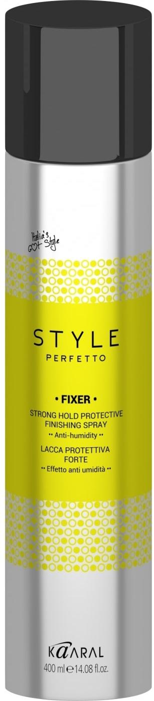 Kaaral Защитный лак для волос сильной фиксации Style Perfetto Fixer Strong Hold Protective Finishing Spray, 400 мл paul mitchell спрей сильной фиксации для объема extra body finishing spray 400 мл