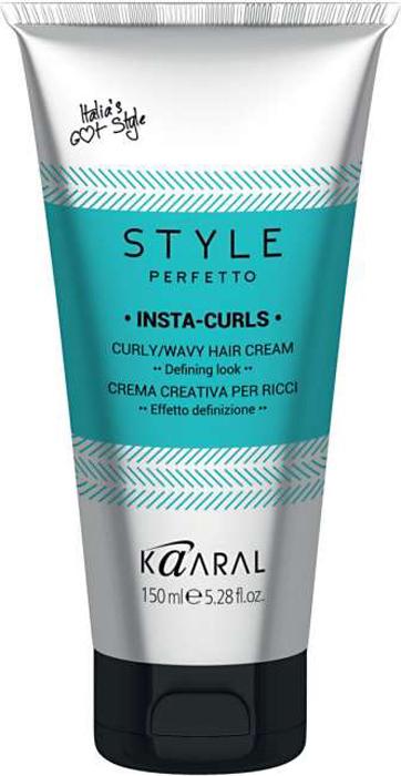 Kaaral Крем для вьющихся волос для формирования завитков Style Perfetto Insta-Curls Curly/Wavy Hair, 150 мл kaaral спрей защита от курчавости и для придания блеска style perfetto bling glossing spray 300 мл