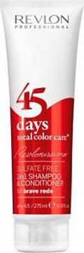 Revlon Professional RCC Shampoo and Conditioner Brave Reds – Шампунь-кондиционер для ярких красных оттенков 275 мл revlon шампунь кондиционер для темных оттенков sensual brunettes color care 275 мл