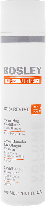 Bosley Кондиционер для объема истонченных и окрашенных волос, 300 мл bosley bosley уход увеличивающий густоту истонченных окрашенных волос 200 мл