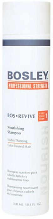 Bosley Шампунь питательный, для истонченных и окрашенных волос, 300 мл bosley bosley уход увеличивающий густоту истонченных окрашенных волос 200 мл