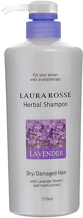 Шампунь для волос LAURA ROSSE / Растительный шампунь Лаванда, для сухих и поврежденных волос, 510 мл, арт. 295691 аптечка агафьи комплекс растительный для регенерации сухих и поврежденных волос 7 ампул х 5 мл