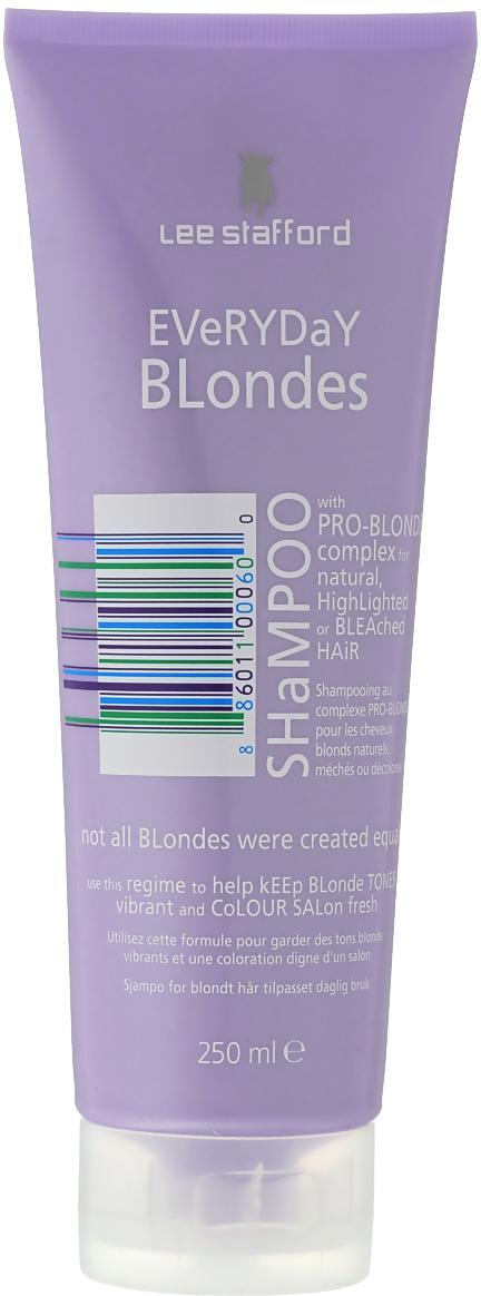 Lee Stafford Шампунь для осветленных волос для ежедневного применения Bleach Blonde, 250 мл paul mitchell бессульфатный шампунь для светлых волос forever blonde shampoo 250 мл