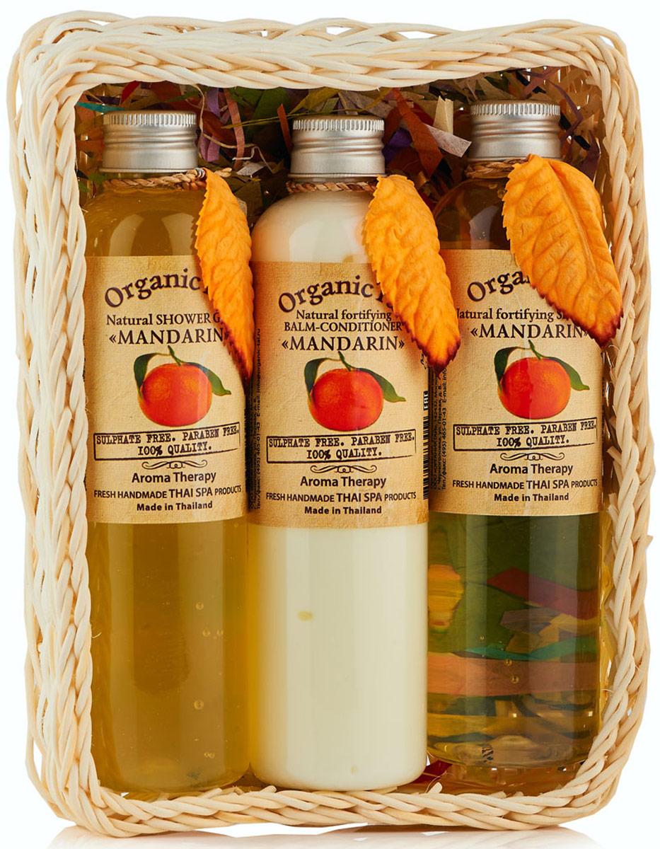 OrganicTai-NABOR-Naturalqnyj-shampunq-dlya-volos-MANDARIN-260-ml-Naturalqnyj-balqzam-kondicioner-MANDARIN-260-ml-Naturalqnyj-gelq-dlya-dusha-MANDARIN-
