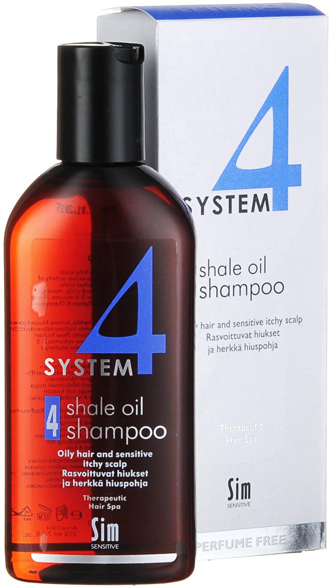 SIM SENSITIVE Терапевтический шампунь № 4 SYSTEM 4 Shale Oil Shampoo 4 , 215 мл
