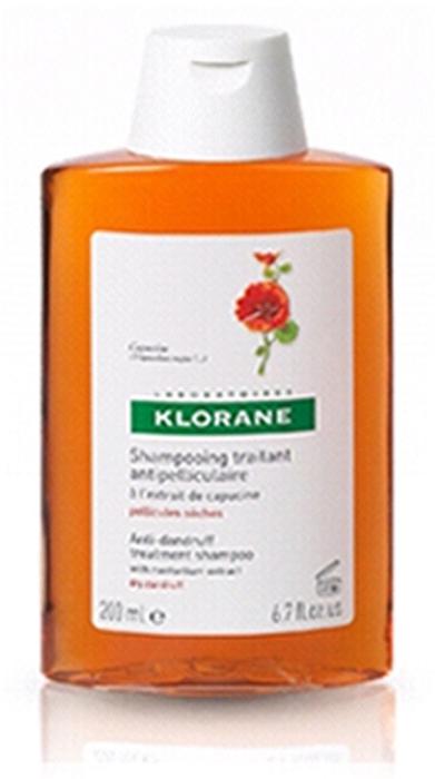Klorane Шампунь Dandruff с Настурцией от сухой перхоти, 200 мл шампунь klorane с настурцией от сухой перхоти 200 мл