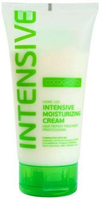 CocoChoco INTENSIVE Крем-маска для суперинтенсивного увлажнения 150 млP0426900Крем-маска Intensive Moisturizing Cream для интенсивного увлажнения помогает мгновенно обогатить влагой сухие, пористые, повреждённые волосы. После применения маски волосы становятся гладкими, блестящими, послушными, легко расчёсываются и не требуют много времени для укладки. В случае, если ваши волосы очень повреждены после процедуры окрашивания, маску рекомендуется не смывать. Рекомендуем!