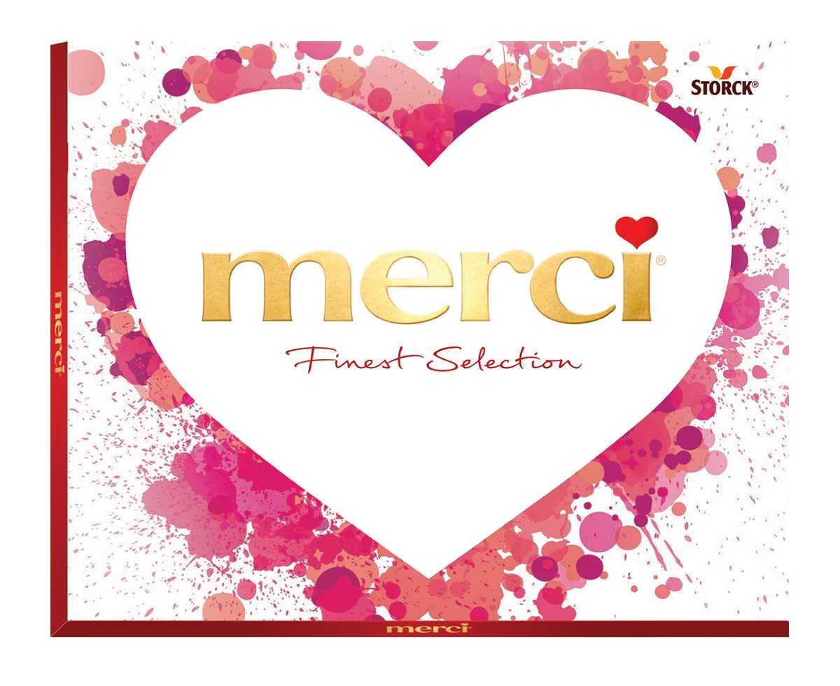 Merci Сердца конфеты ассорти розовое, 250 г merci набор конфет ассорти из шоколада с миндалем 250 г