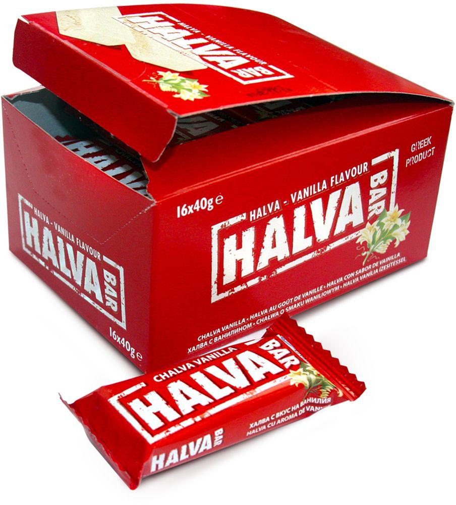 Halva Bar Халва кунжутная батончик ванильный, 40 г цена