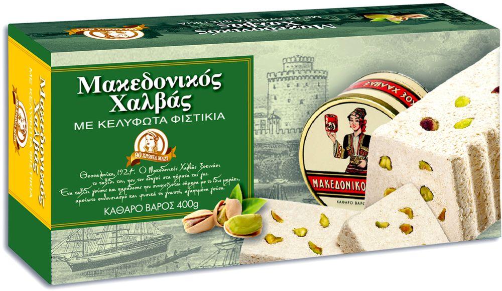 Macedonian Halva Халва македонская кунжутная с фисташками, 400 г