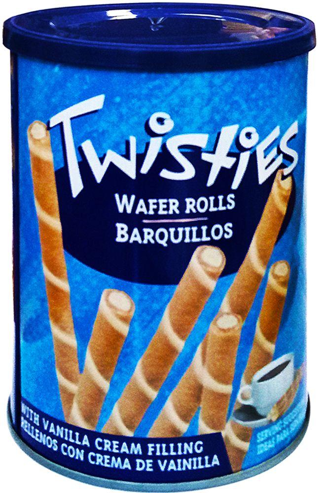 Twisties Вафельные трубочки с ванильным кремом, 400 г