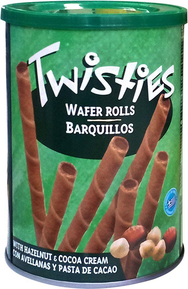 Twisties Вафельные трубочки с кремом из лесного ореха и какао, 400 г18023Вафельные трубочки Twisties - изысканная сладость из Греции для любителей сладкого. Нежные вафли и сочный крем стали уникальной находкой греческих кондитеров. Вафельные трубочки – это восхитительное лакомство, мгновенно тающее во рту. Нежнейшая начинка до краев заполняет трубочку с вафельным корпусом. Вафли очень нежные, с красивым спиралеобразным декором. Хороши для семейного чаепития. Отличное лакомство для дома или на работе. Идеально подойдут для подарка.