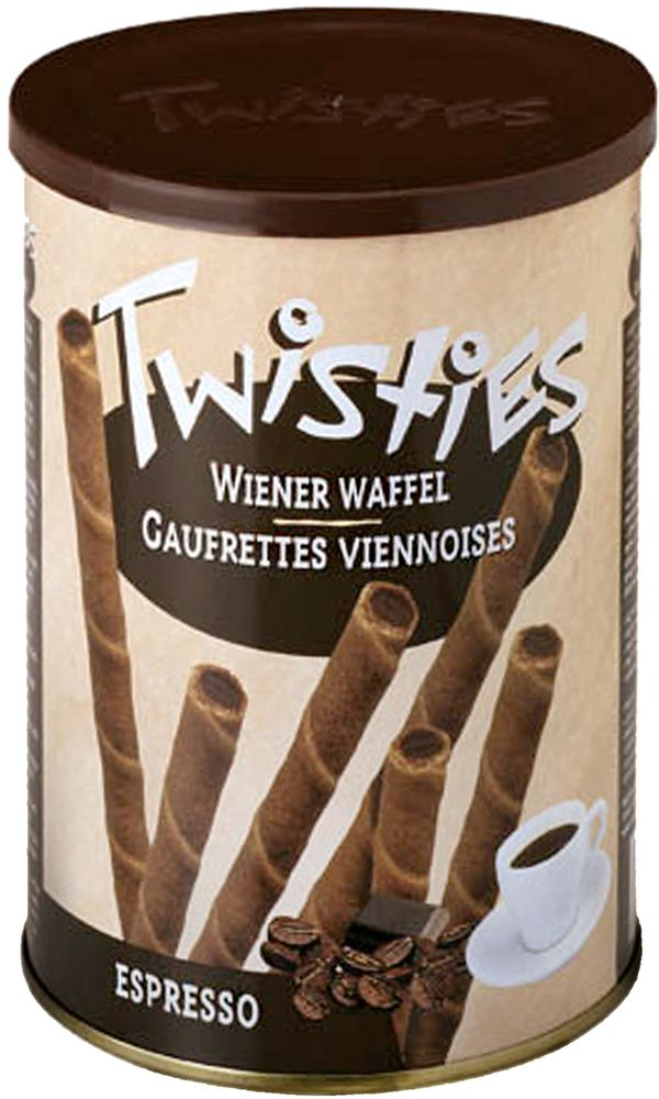 Twisties Вафельные трубочки с кофейным кремом эспрессо, 400 г