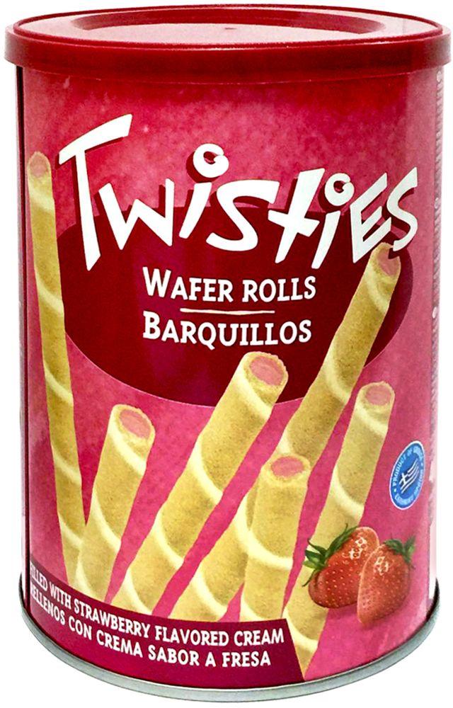 Twisties Вафельные трубочки с клубничным кремом, 400 г