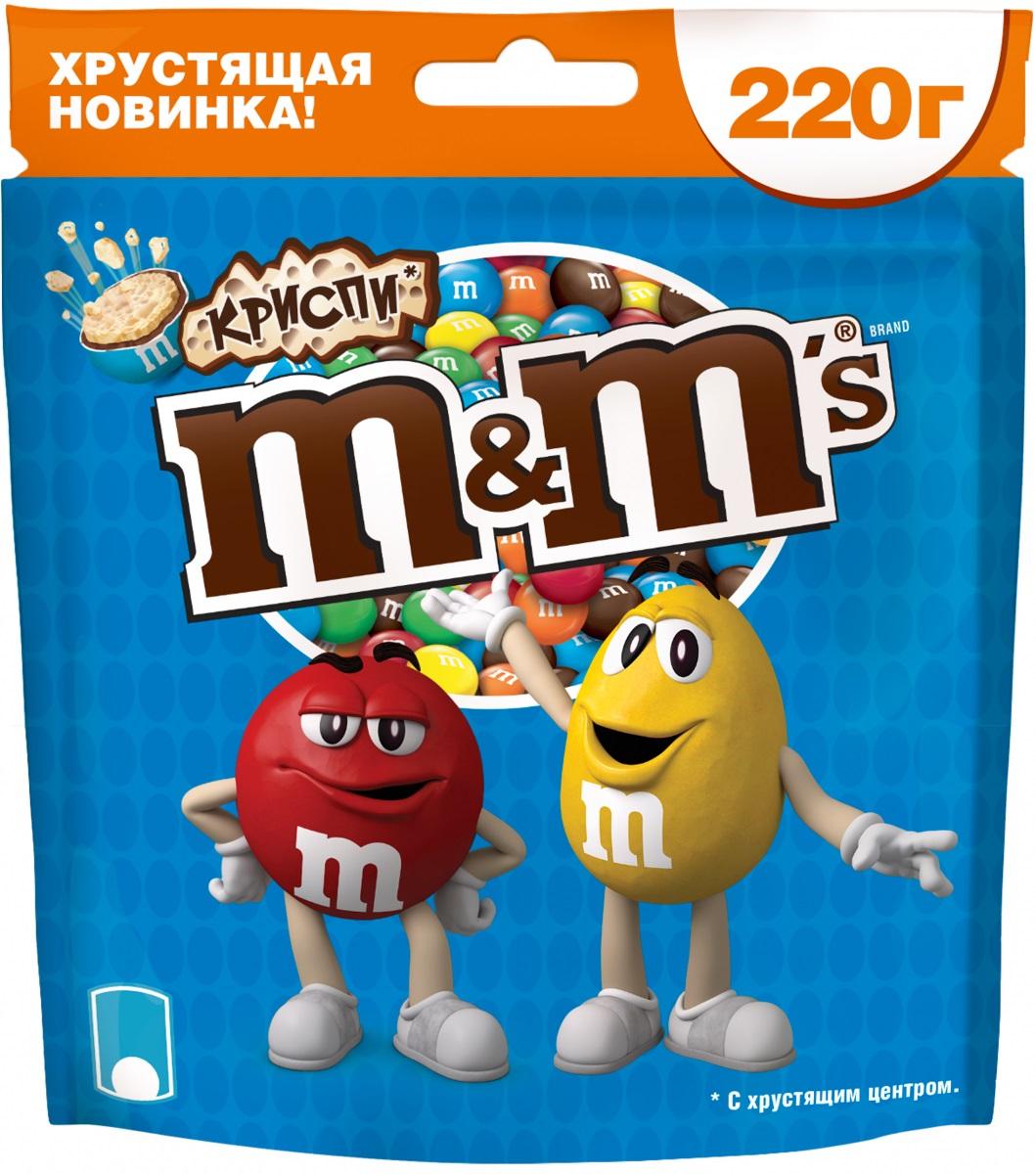 M&M's Криспи драже с хрустящим центром, 220 г драже m