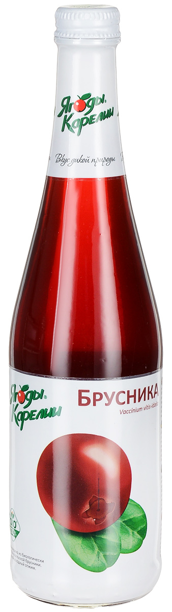 Ягоды Карелии нектар брусничный с мякотью, 0,51 л