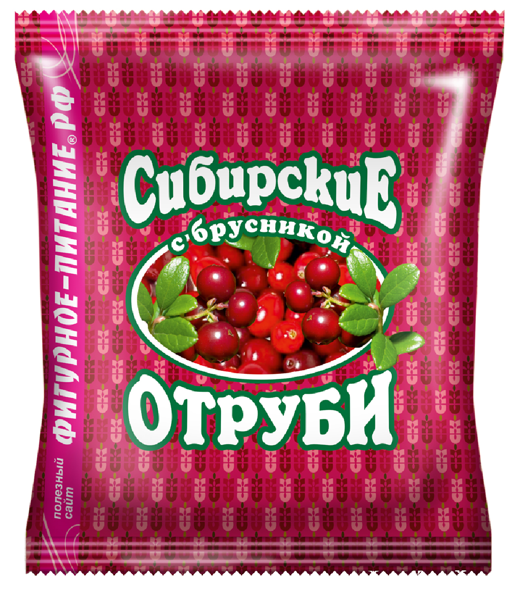Сибирские Отруби пшеничные с брусникой, 200 г