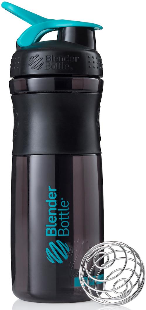 """Шейкер спортивный BlenderBottle """"SportMixer"""", цвет: черный, бирюзовый, 828 мл"""