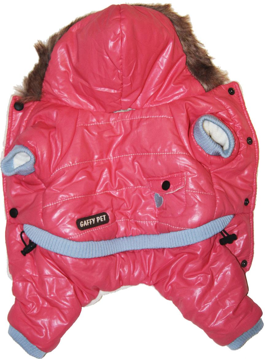 """Комбинезон для собак Gaffy Pet """"Heart"""", зимний, для девочки, цвет: розовый. Размер XS"""