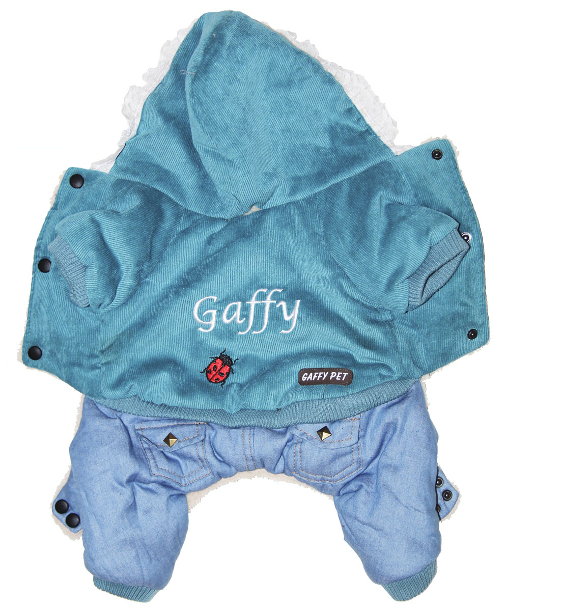 Комбинезон для собак Gaffy Pet Ladybird, зимний, мальчика, цвет: голубой. Размер L