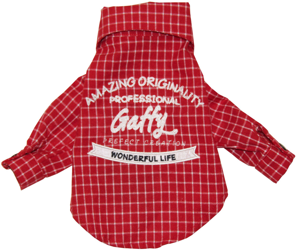 "Рубашка для собак Gaffy Pet ""Red Plaid"". Размер S"