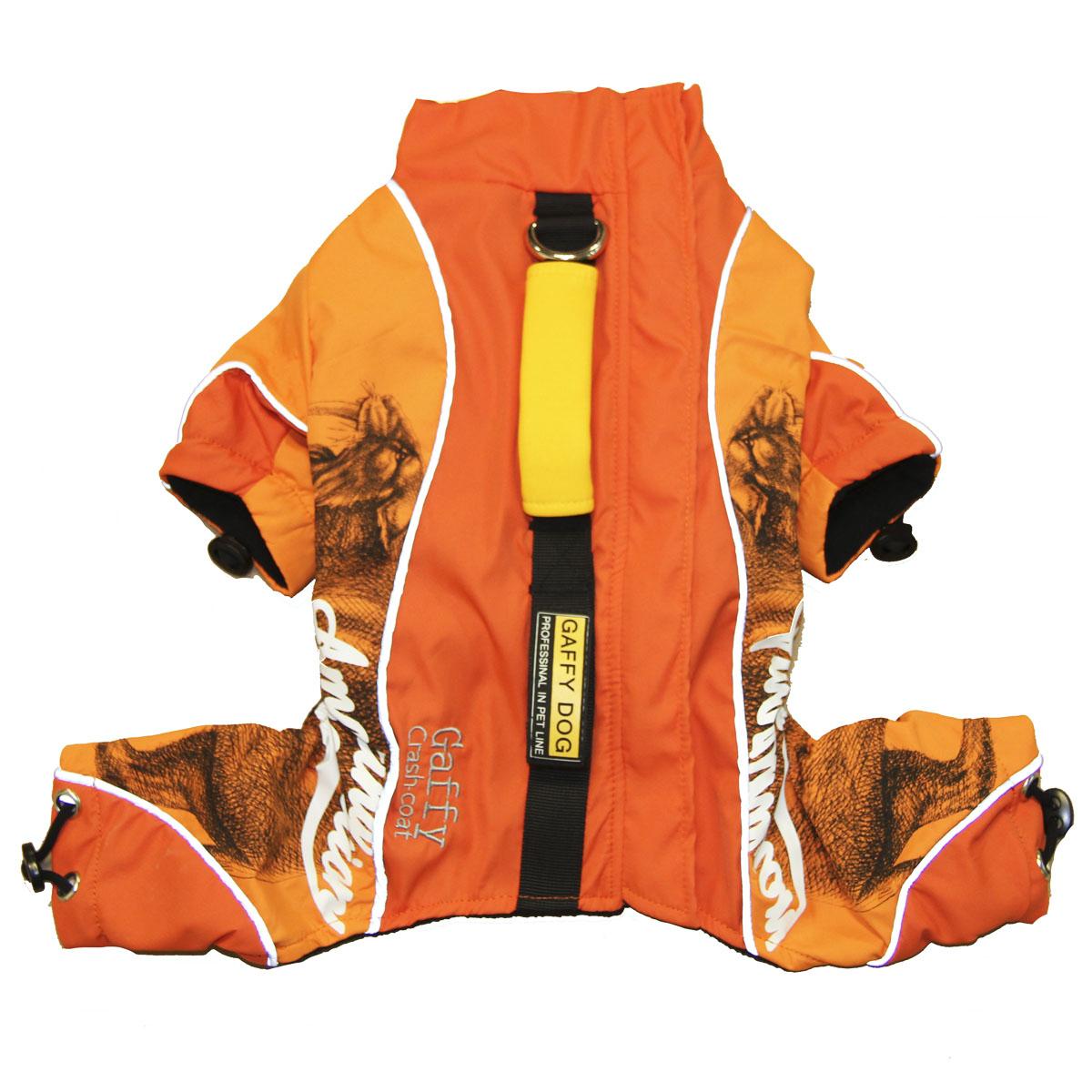 """Дождевик для собак Gaffy Pet """"Pro"""", унисекс, цвет: оранжевый. Размер 4XL"""