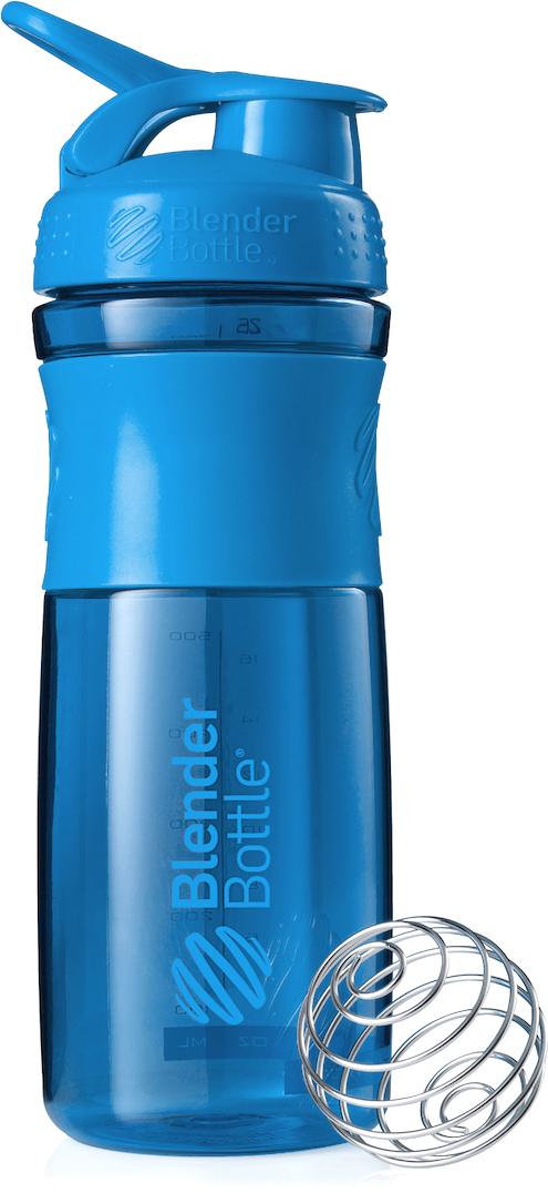 """Шейкер спортивный BlenderBottle """"SportMixer"""", цвет: голубой, 828 мл"""
