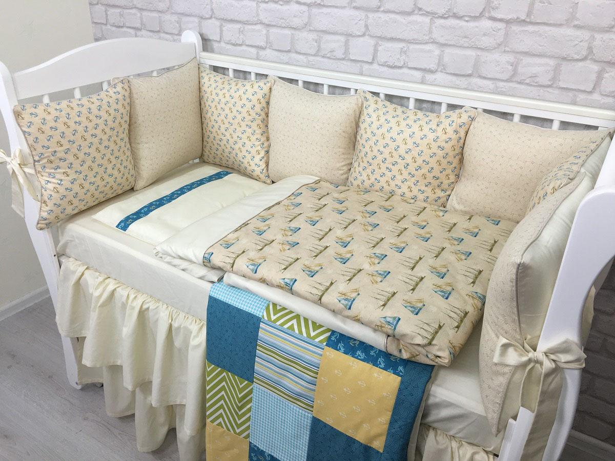 MARELE Комплект детского постельного белья в кроватку Корабли пустыни 18 предметов