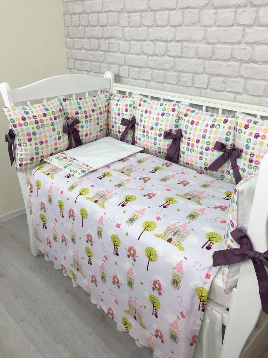 MARELE Комплект детского постельного белья в кроватку Принцесса на горошине 17 предметов