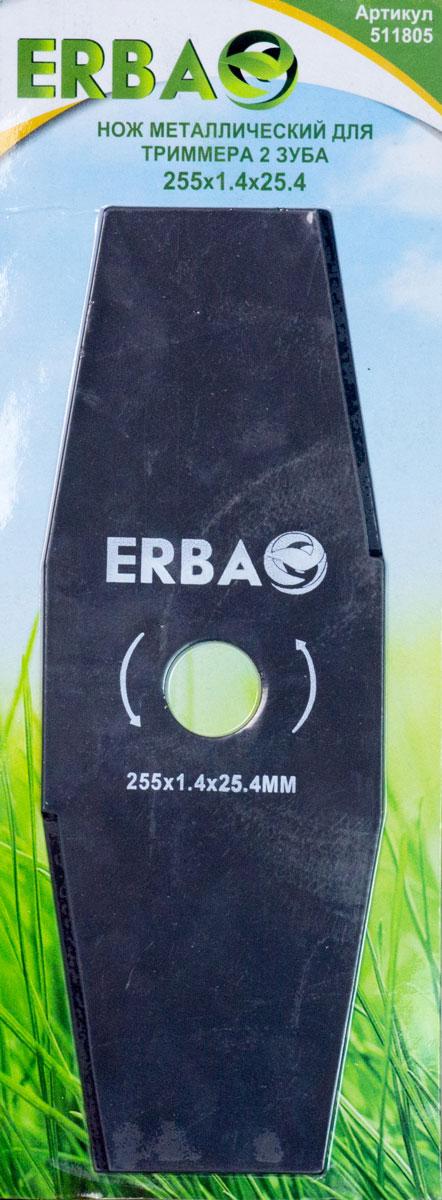 Нож для триммера Erba, 2 зуба, 25 х 2,54 см нож champion для жесткой травы c5120 c774