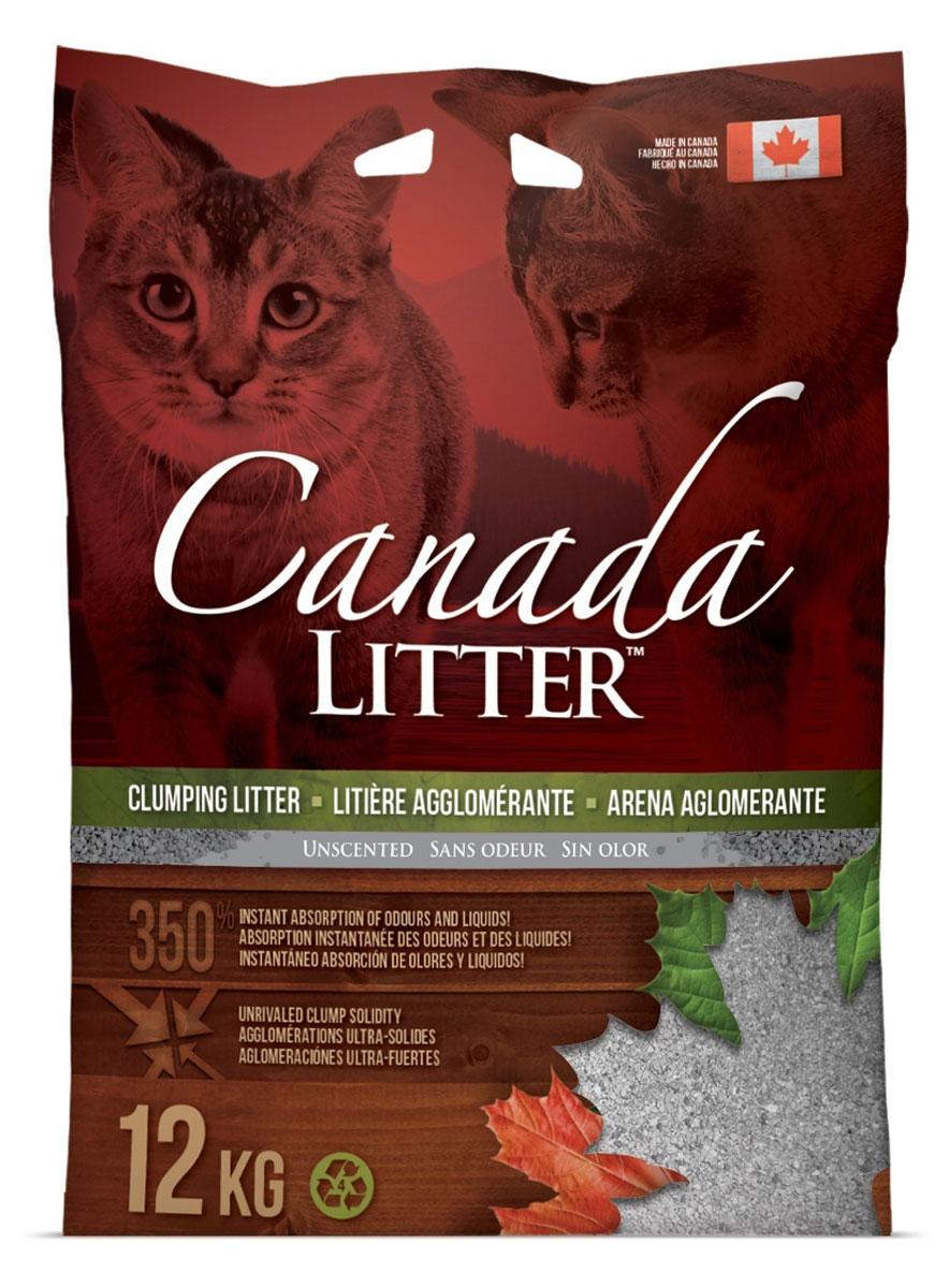 Наполнитель для кошачьих туалетов Canada Litter Запах на замке, комкующийся, без запаха, 12 кг наполнитель для кошачьих туалетов canada litter запах на замке комкующийся с ароматом детской присыпки 6 кг