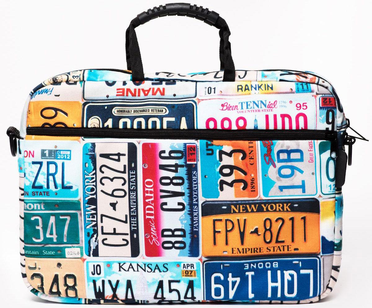 "Vivacase Plate Num, Blue сумка для ноутбука 15,6"""