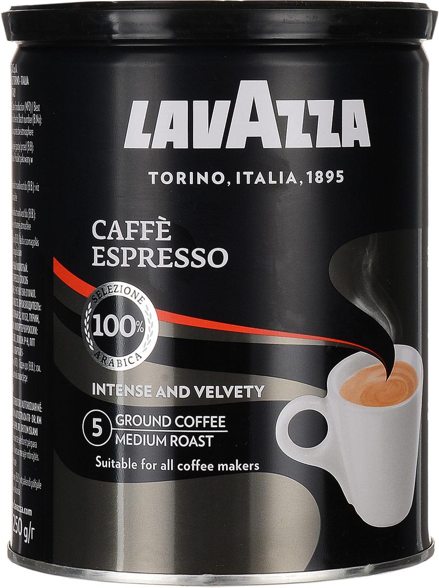 Lavazza Caffe Espresso кофе молотый, 250 г (ж/б) lavazza caffe espresso 1000 beans эспрессо зерно вакуумная упаковка