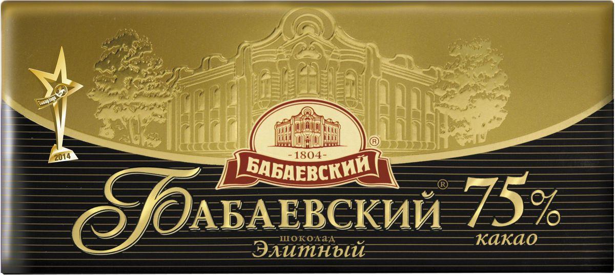 Бабаевский элитный 75% темный шоколад, 200 г цена