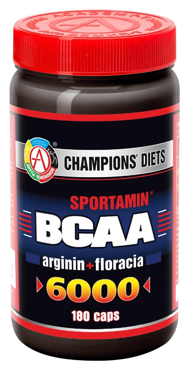 BCAA Академия-Т BCAA 6000 Спортамин, 180 капсул аминокислоты академия т bcaa 6000 спортамин 90 таблеток
