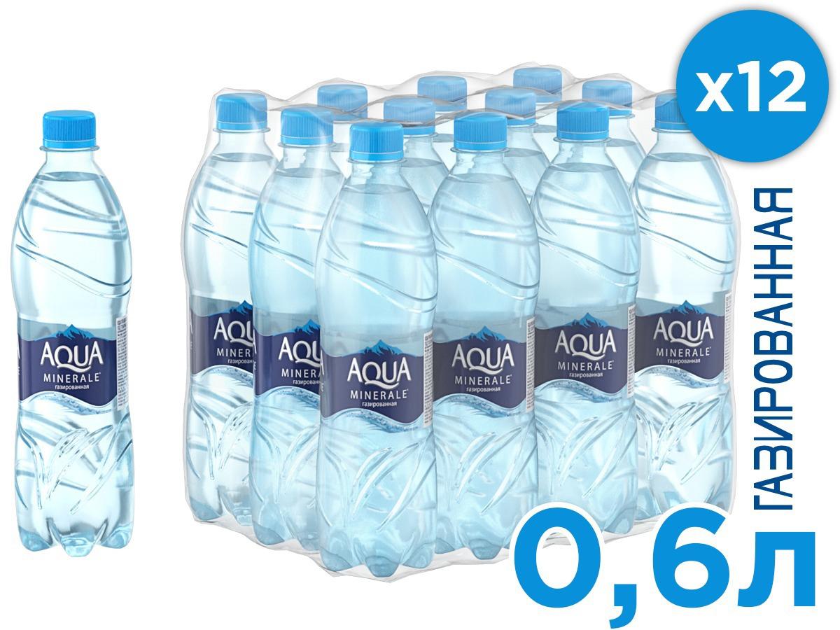 Aqua Minerale вода газированная питьевая, 12 ш т по 0,6 л