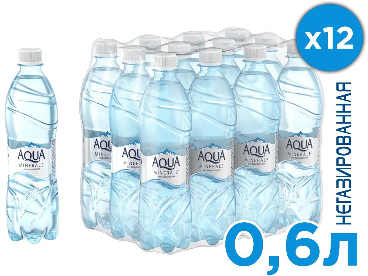 Aqua Minerale вода питьевая негазированная, 12 штук по 0,6 л