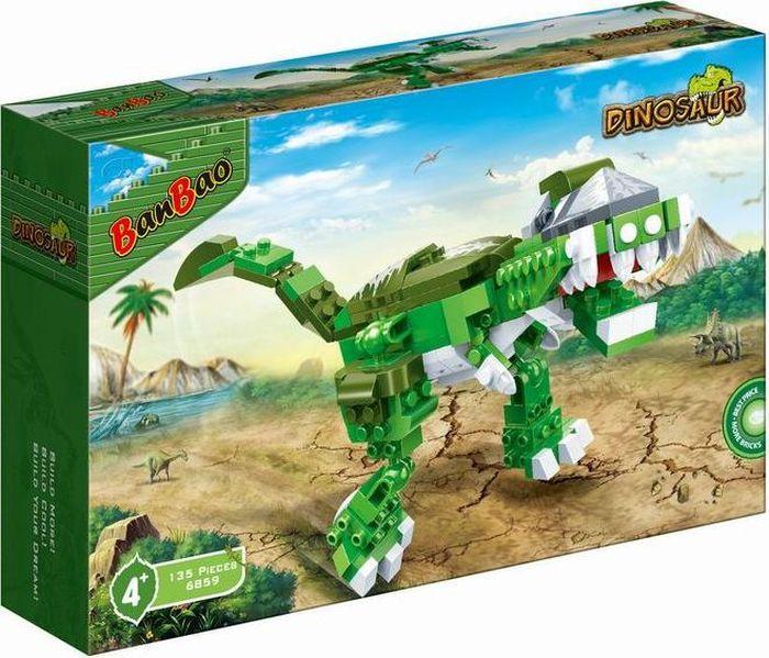 BanBao Пластиковый конструктор Динозавр 135 деталей конструктор banbao кафе мороженое 223 деталей 6117