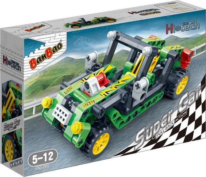 BanBao Пластиковый конструктор Гоночная машина цвет зеленый 128 деталей александр жадаев наглядный самоучитель dreamveawer cs4